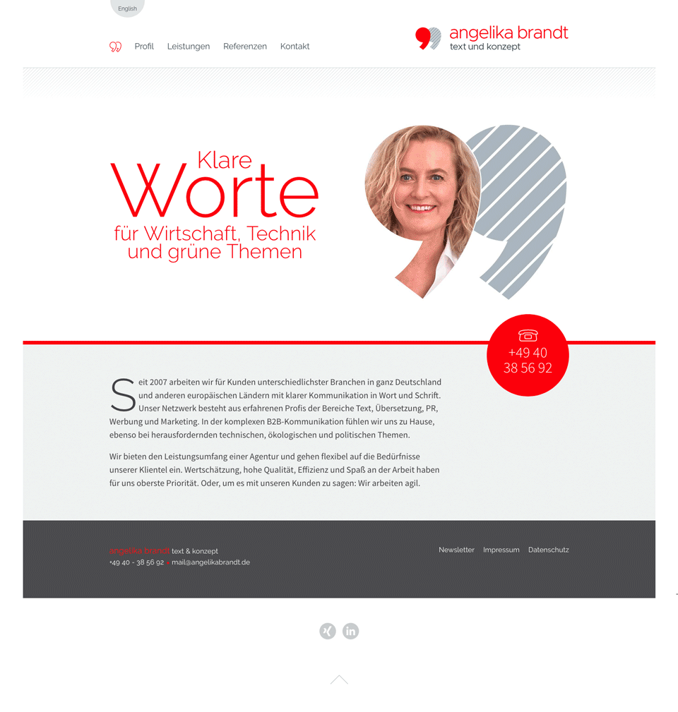 Website Angelika Brandt